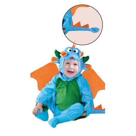 Disfraz Dragóncito Azul y Verde de Bebé