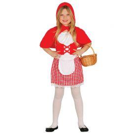 Disfraz de Little Red Girl Niña Cuadritos