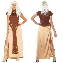 Déguisement de Mère des Dragons avec des Tons Bruns pour Femme