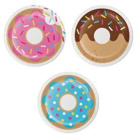 8 Assiettes Donut 18 cm