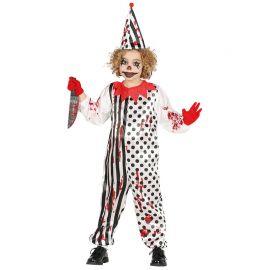 Déguisement Clown Zombie Mono Rayures et Pois