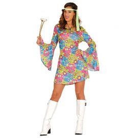 Déguisement de Hippie Flower Power pour Femme