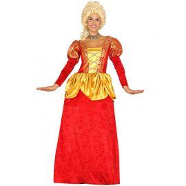 Déguisement Rouge de Comtesse pour Femme avec Jupon
