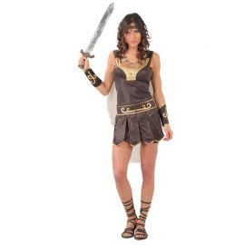 Déguisement Guerrière Romaine avec Cape pour Femme