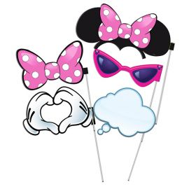 6 Accessoires Minnie Mouse Photobooth