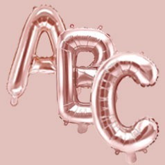 Ballons Lettres Rose Gold