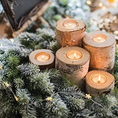 Bougies de Noël