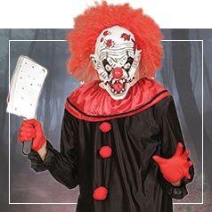 Déguisements de Clown Assassin pour Homme