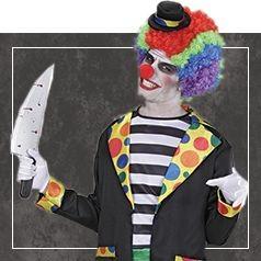 Déguisements de Clown Diabolique pour Homme