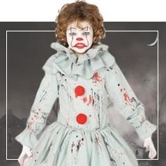 Déguisements de Clown Diabolique Fille