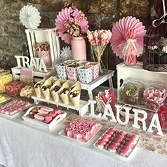 Bar à Bonbons pour Baby Shower