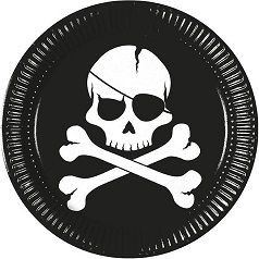 Anniversaire Pirate Tête de Mort