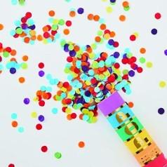 Canons à Confettis Multicolores