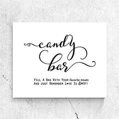 Pancartes Candy Bar