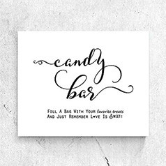 Panneau Candy Bar