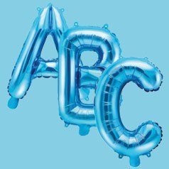 Ballons Lettres Bleues
