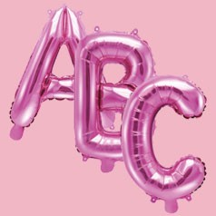 Ballons Lettres Roses