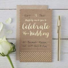 Invitations Kraft